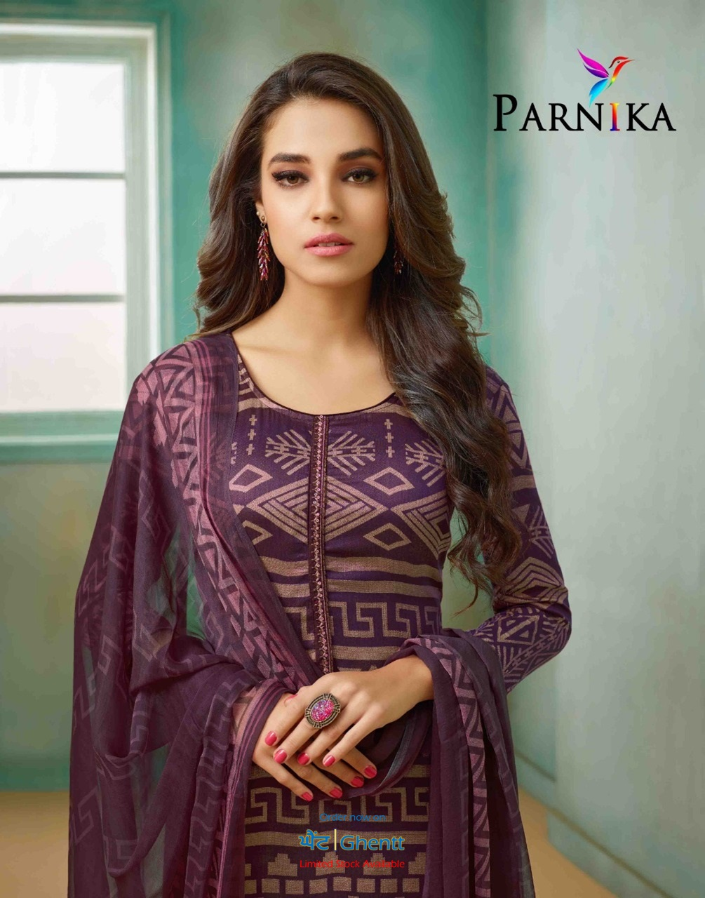 7cf328269e Pashmina Printed + Work – Unstitched Suit – APPP - 013 - Ghentt
